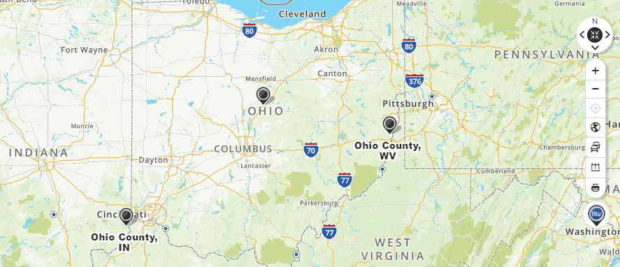 Mapquest Ohio