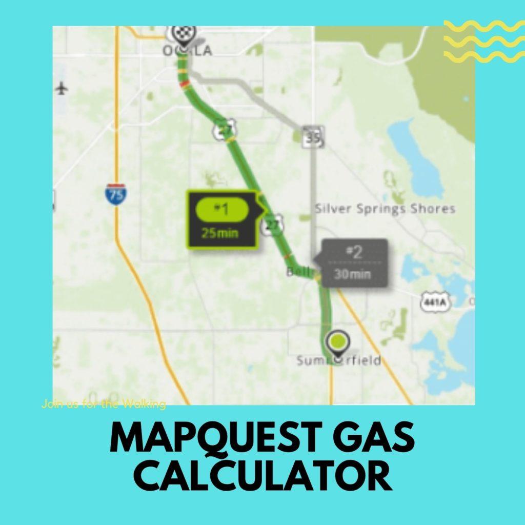 MAPQUEST GAS CALCULATOR